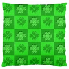 Fabric Shamrocks Clovers Large Flano Cushion Case (One Side)