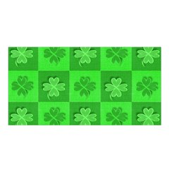 Fabric Shamrocks Clovers Satin Shawl