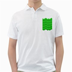 Shamrocks 3d Fabric 4 Leaf Clover Golf Shirts