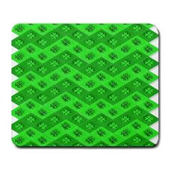 Shamrocks 3d Fabric 4 Leaf Clover Large Mousepads