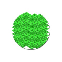 Shamrocks 3d Fabric 4 Leaf Clover Magnet 3  (Round)
