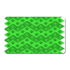 Shamrocks 3d Fabric 4 Leaf Clover Magnet (rectangular)