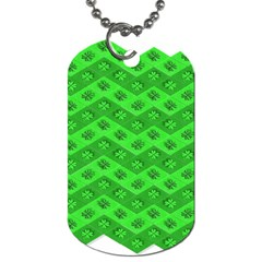 Shamrocks 3d Fabric 4 Leaf Clover Dog Tag (two Sides)