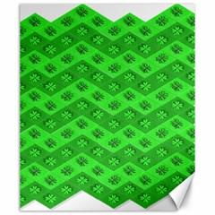 Shamrocks 3d Fabric 4 Leaf Clover Canvas 20  x 24