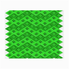 Shamrocks 3d Fabric 4 Leaf Clover Small Glasses Cloth (2-Side)