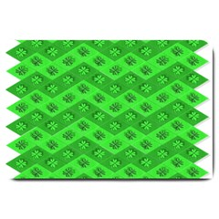 Shamrocks 3d Fabric 4 Leaf Clover Large Doormat