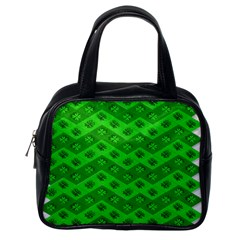 Shamrocks 3d Fabric 4 Leaf Clover Classic Handbags (One Side)
