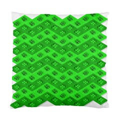 Shamrocks 3d Fabric 4 Leaf Clover Standard Cushion Case (two Sides)