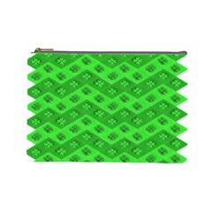 Shamrocks 3d Fabric 4 Leaf Clover Cosmetic Bag (Large)