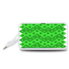 Shamrocks 3d Fabric 4 Leaf Clover Portable Speaker (White)