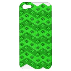 Shamrocks 3d Fabric 4 Leaf Clover Apple Iphone 5 Hardshell Case