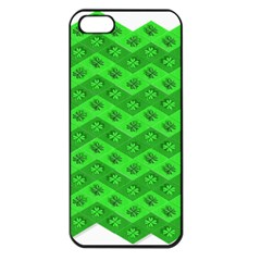 Shamrocks 3d Fabric 4 Leaf Clover Apple iPhone 5 Seamless Case (Black)