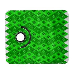 Shamrocks 3d Fabric 4 Leaf Clover Galaxy S3 (Flip/Folio)