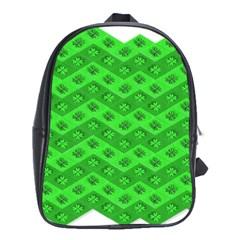 Shamrocks 3d Fabric 4 Leaf Clover School Bags (XL)