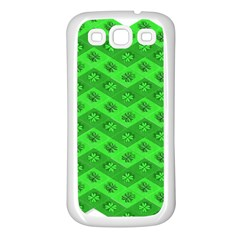 Shamrocks 3d Fabric 4 Leaf Clover Samsung Galaxy S3 Back Case (white)