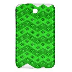 Shamrocks 3d Fabric 4 Leaf Clover Samsung Galaxy Tab 3 (7 ) P3200 Hardshell Case