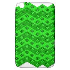 Shamrocks 3d Fabric 4 Leaf Clover Samsung Galaxy Tab 3 (8 ) T3100 Hardshell Case