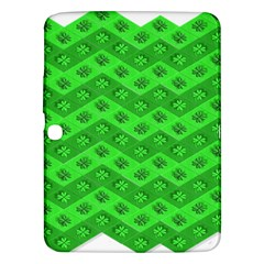 Shamrocks 3d Fabric 4 Leaf Clover Samsung Galaxy Tab 3 (10.1 ) P5200 Hardshell Case