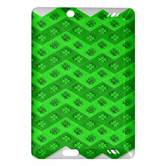 Shamrocks 3d Fabric 4 Leaf Clover Amazon Kindle Fire HD (2013) Hardshell Case