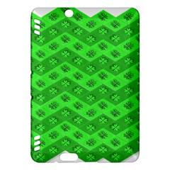 Shamrocks 3d Fabric 4 Leaf Clover Kindle Fire HDX Hardshell Case
