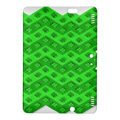 Shamrocks 3d Fabric 4 Leaf Clover Kindle Fire HDX 8.9  Hardshell Case