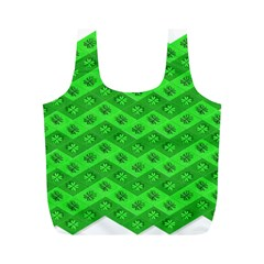 Shamrocks 3d Fabric 4 Leaf Clover Full Print Recycle Bags (m)