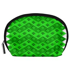 Shamrocks 3d Fabric 4 Leaf Clover Accessory Pouches (Large)