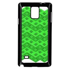 Shamrocks 3d Fabric 4 Leaf Clover Samsung Galaxy Note 4 Case (black)