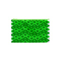 Shamrocks 3d Fabric 4 Leaf Clover Cosmetic Bag (xs)