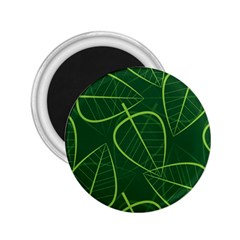 Vector Seamless Green Leaf Pattern 2 25  Magnets