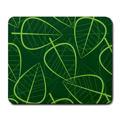 Vector Seamless Green Leaf Pattern Large Mousepads