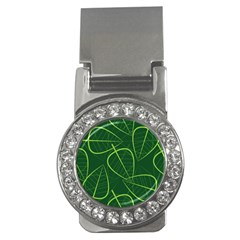 Vector Seamless Green Leaf Pattern Money Clips (cz)