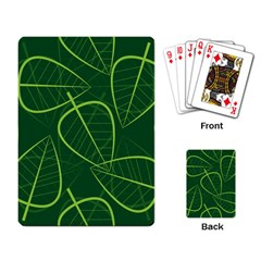 Vector Seamless Green Leaf Pattern Playing Card