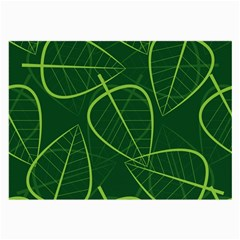 Vector Seamless Green Leaf Pattern Large Glasses Cloth (2 Side)