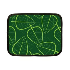 Vector Seamless Green Leaf Pattern Netbook Case (small)