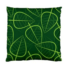 Vector Seamless Green Leaf Pattern Standard Cushion Case (One Side)