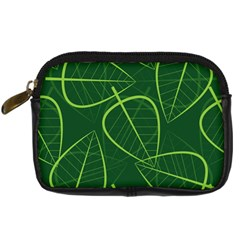 Vector Seamless Green Leaf Pattern Digital Camera Cases