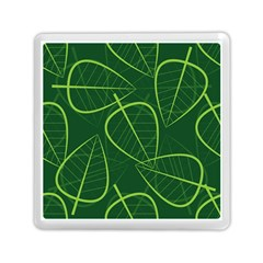 Vector Seamless Green Leaf Pattern Memory Card Reader (square)