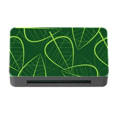 Vector Seamless Green Leaf Pattern Memory Card Reader with CF