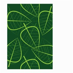 Vector Seamless Green Leaf Pattern Small Garden Flag (Two Sides)