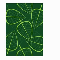 Vector Seamless Green Leaf Pattern Large Garden Flag (Two Sides)