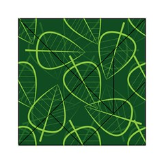 Vector Seamless Green Leaf Pattern Acrylic Tangram Puzzle (6  X 6 )