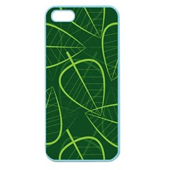 Vector Seamless Green Leaf Pattern Apple Seamless iPhone 5 Case (Color)