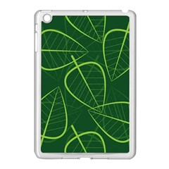 Vector Seamless Green Leaf Pattern Apple iPad Mini Case (White)