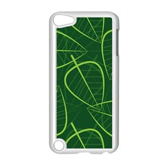 Vector Seamless Green Leaf Pattern Apple iPod Touch 5 Case (White)