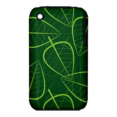 Vector Seamless Green Leaf Pattern iPhone 3S/3GS