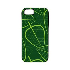 Vector Seamless Green Leaf Pattern Apple Iphone 5 Classic Hardshell Case (pc+silicone)