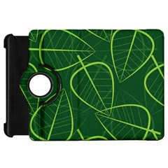 Vector Seamless Green Leaf Pattern Kindle Fire HD 7