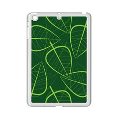 Vector Seamless Green Leaf Pattern iPad Mini 2 Enamel Coated Cases