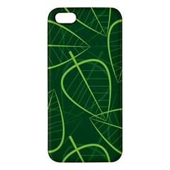 Vector Seamless Green Leaf Pattern Apple iPhone 5 Premium Hardshell Case
